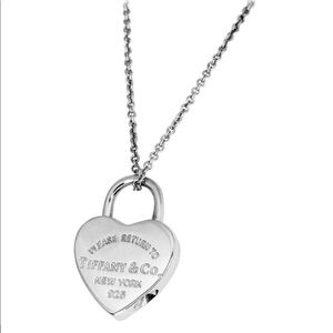 Tiffany & Co. Heart Lock Pendant Silver Necklace